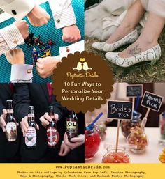 10 Ways to Inject Personality Into Your Wedding Details. Posted by http://www.r3volutionweddings.com