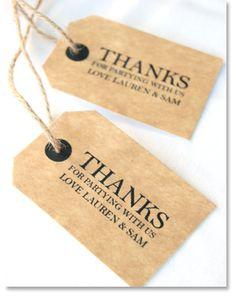 Do It Yourself Wedding Gift Tags : diy wedding small gift tags - an easy do it yourself project idea ...