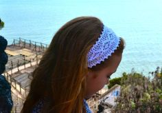Wide White Wedding Lace Headbands - Sassy Knots | Hair Ties and Accessories