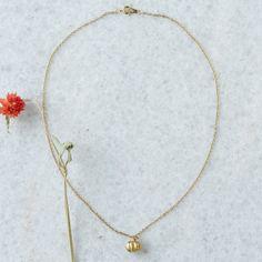 Pumpkin Necklace in Spa+Accessories JEWELRY Janet Mavec at Terrain