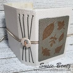 Faux Leather Wrapped Gratitude Journal by Susie Bentz for Eileen Hull Designs