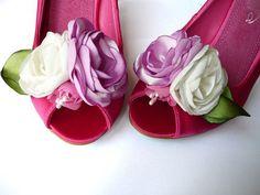 Wedding Shoe Clips in Silk