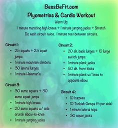 Can't wait to try this - looks tough! Be Fit Friday At-Home Plyo & Cardio