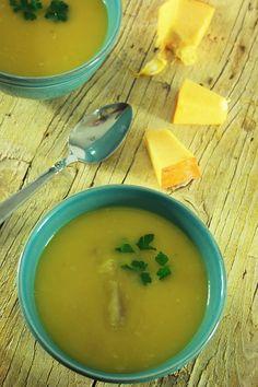 Sopa de abóbora com cação