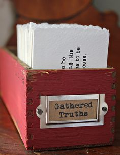 Absolutely LOVE this idea...a place to keep & display thoughts, special scriptures, and great quotes all in one place!  No more sticky notes everywhere and it looks awesome too!
