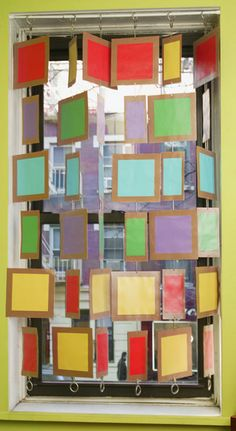 This is a great way to display student work and utilize the dead space of a window...maybe book recommendations?
