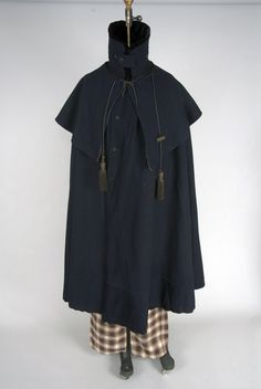 cloaks, broadcloth cloak, costum 1840s