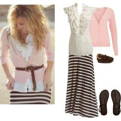 """Pink and Brown"" by annabeth1223 on Polyvore"