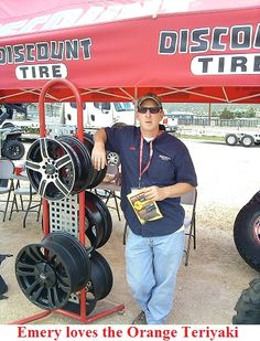 Emery from Discount Tire took a liking to our Orange Teriyaki SNATCH beef jerky!!