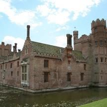Oxburgh Hall, Norfolk, England... not a castle but a country house, but too big to put with my other house boards :)