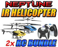 Neptune and Neptune-X 3.5CH Gyro IR Helicopter Bundle