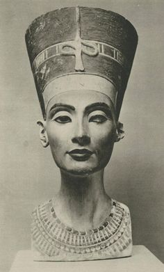Nefertiti, limestone bust, created 1345 BC, discovered 1912, Neues Museum, Berlin  