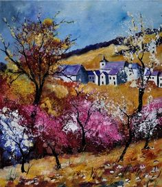 Spring in sosoye, painting by artist ledent pol