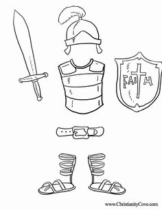 armor of god coloring pages | Bible Printables: Coloring Pages For Sunday School - Christianity Cove