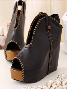 Fashion Style Fish Mouth Wedge Shoes