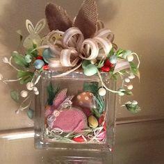 Easter Decorative Glass Block