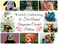 Weekly Gathering: 10 Free Animal Amigurumi Crochet Patterns! | The Handmade Handmaiden