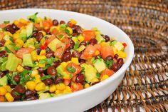 black bean and corn salad w/ avocado... great side dish for Tex-Mex night!