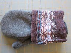 DIY sweater mitten making tutorial