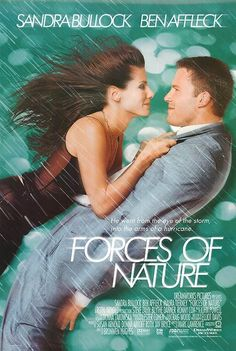 Forces Of Nature, released 1999.. watched the scene filmed in the Kmart parking lot when it begins to hail....the KMart and the huge globe in this movie got facelifts thanks to this movie.