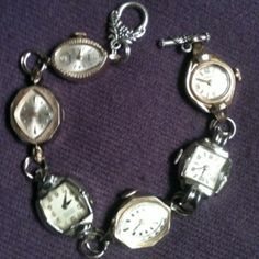 Bracelet with vintage watches.