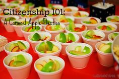 A Caramel Apple {mock} election: Citizenship 101 - Getting a Taste of the Election Process