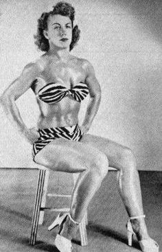 Old School Fitness - Female wrestler Mildred Burke