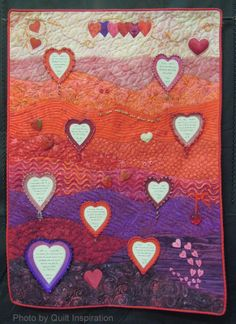 The Love Quilt by Christine Nelson - 2014 Tucson Quilt Fiesta.  Photo by Quilt Inspiration