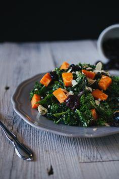 Kale Cherry Sweet Potato Salad