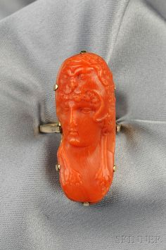 Antique Coral Cameo of Hercules