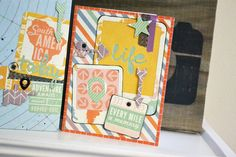 We R AME Dies Layout and Card by Aly Dosdall_close 2 mini albums, card