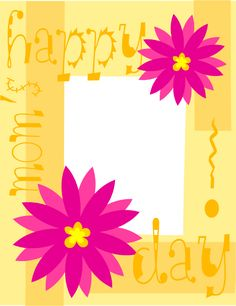 Yellow & Pink Mothers Day Card Printable