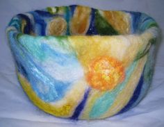Summer's Day  Needle Felted Basket by WeavingMeHome on Etsy, £35.99