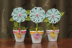 Flower Pot Thank You Instructions - Created using {Pebbles Basics Collection} - Pebbles, Inc.
