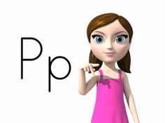 Alphabet Letter Sounds (Phonics) Song and ASL alphabet (American - 'zee' version)