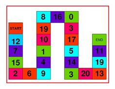 $1.00...............Math game to practice identifying numbers as well as numbers before or after a given number.