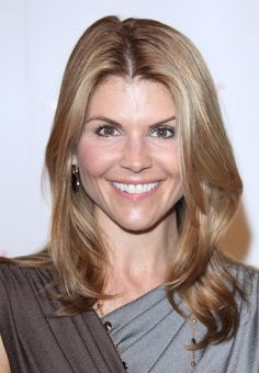 Lori Loughlins chic, long hairstyle