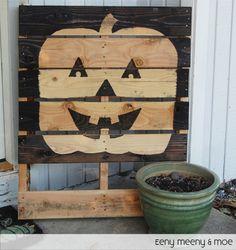 holiday, meeni amp, pallet pumpkin, craft, meeni moe