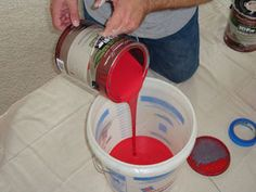 13 Painting Secrets the Pros Won't Tell You  9.) Box Paint for Consistent Color The same color of paint can vary between cans. That difference can be glaringly obvious if you pop open a new gallon halfway through a wall, a retired painter tells PM. To ensure color consistency from start to finish, pros mix their cans of paint in a 5 gallon bucket (a process called boxing).
