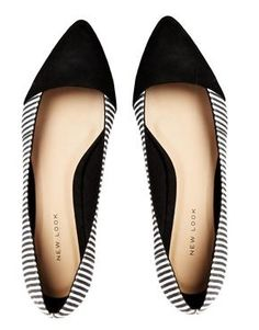Lebra Striped Flat Shoes / New Look  ASOS