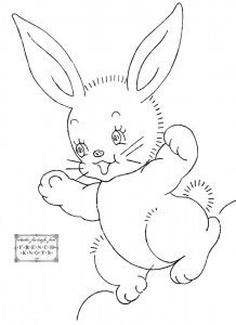 free bunny embroidery pattern