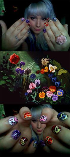 Alice in Wonderland nails by TinyTangerines