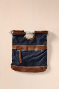 Women's Fold Over Clutch from Lands' End Canvas