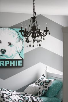 decor, idea, color, paint, chevron wall