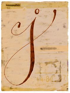 """""""J"""" in calligraphy"""