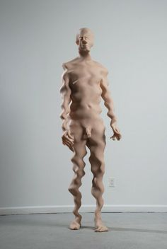 """""""Untitled"""", by Richard Dupont. Scary enough, he makes these sculptures based on a full-body scan of his own body"""