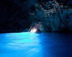 Blue Grotto in Capri, Italy.  This is one of those places you have to see in person because the magic of it can't be captured in a photo.
