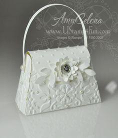 Wedding Petite Purse favor - Ustamp4fun.com - Amy Celona, Stampin ...