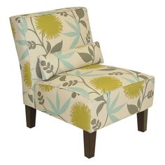 Beautiful Flower Print Side Chair.