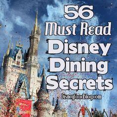 Disney Dining Secrets